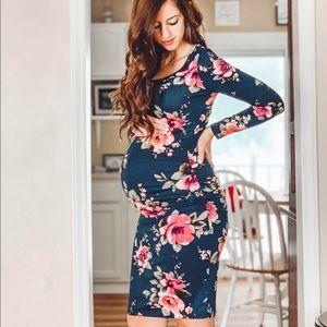 Dresses & Skirts - Navy Floral Maternity Dress